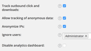Google Analytics Choices Post Yoast SEO Install